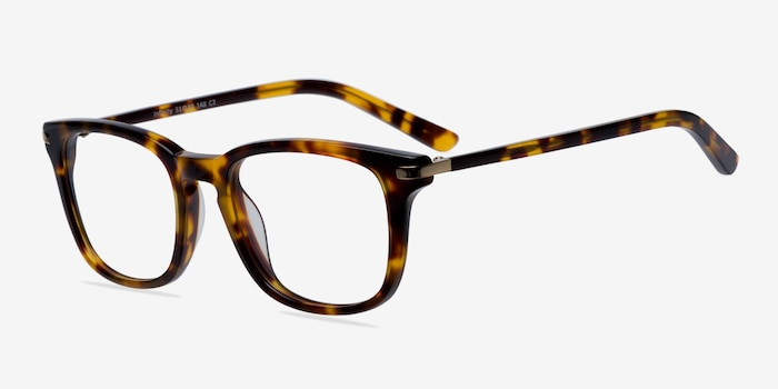 Infinity Tortoise Acetate Eyeglass Frames from EyeBuyDirect, Angle View