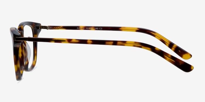 Infinity Tortoise Acetate Eyeglass Frames from EyeBuyDirect, Side View