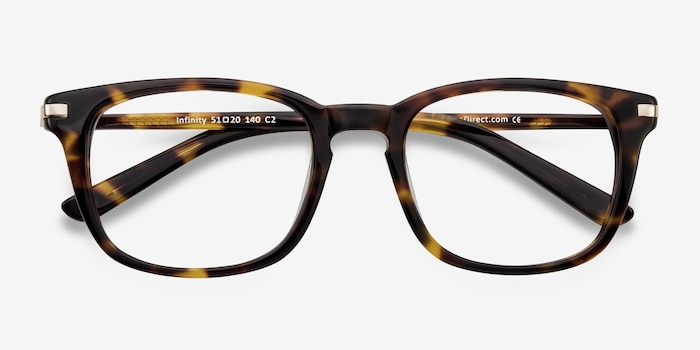 Infinity Tortoise Acetate Eyeglass Frames from EyeBuyDirect, Closed View