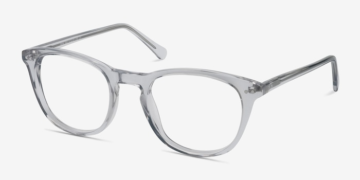 New Day Transparent Acétate Montures de Lunettes d'EyeBuyDirect, Vue d'Angle