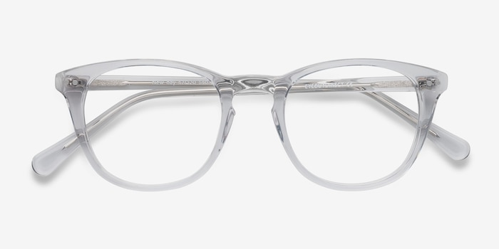 New Day Clear Acetate Eyeglass Frames from EyeBuyDirect, Closed View