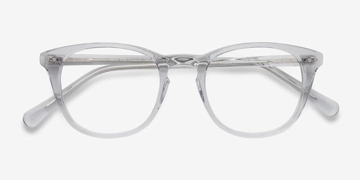 New Day Transparent Acétate Montures de Lunettes d'EyeBuyDirect, Vue Rapprochée