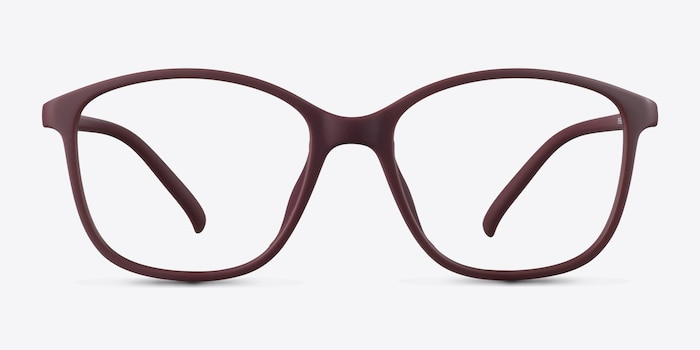 Saint Lou Burgundy Plastic Eyeglass Frames from EyeBuyDirect, Front View