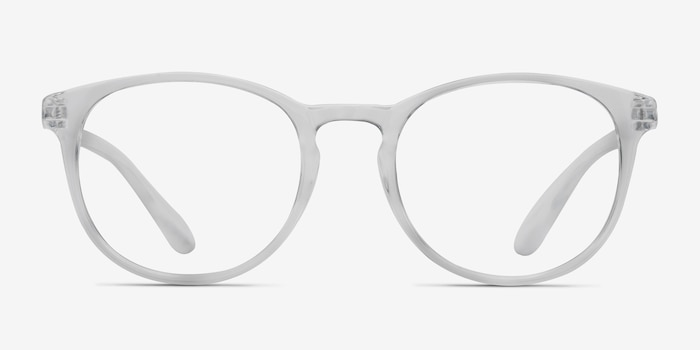 Little Muse Clear Plastic Eyeglass Frames from EyeBuyDirect, Front View