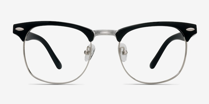 Little Coexist Black Metal Eyeglass Frames from EyeBuyDirect, Front View
