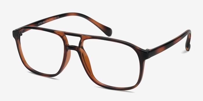 Little Oblivion Tortoise Plastic Eyeglass Frames from EyeBuyDirect, Angle View