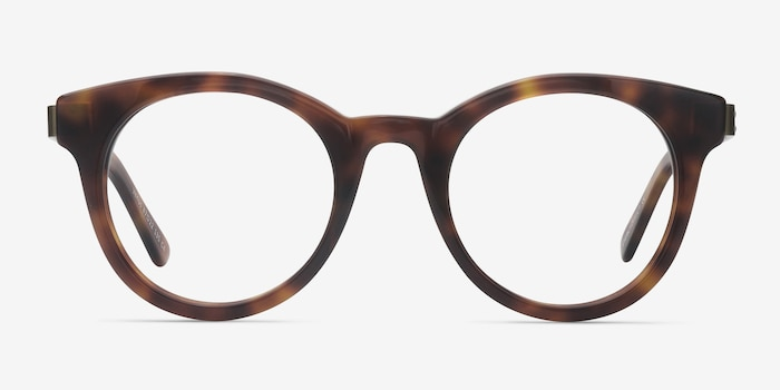 Venus Brown Tortoise Acetate Eyeglass Frames from EyeBuyDirect, Front View