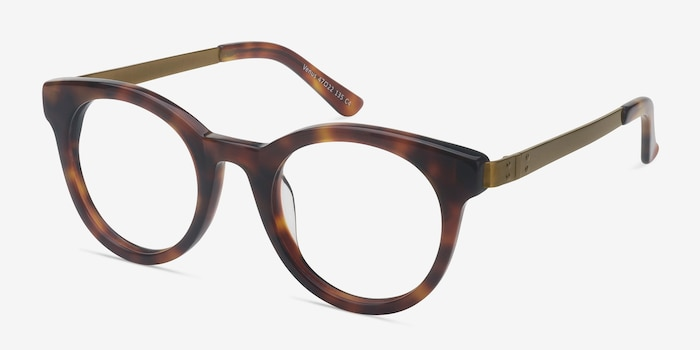 Venus Brown Tortoise Acetate Eyeglass Frames from EyeBuyDirect, Angle View