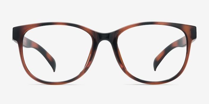 Warren Brown Plastic Eyeglass Frames from EyeBuyDirect, Front View