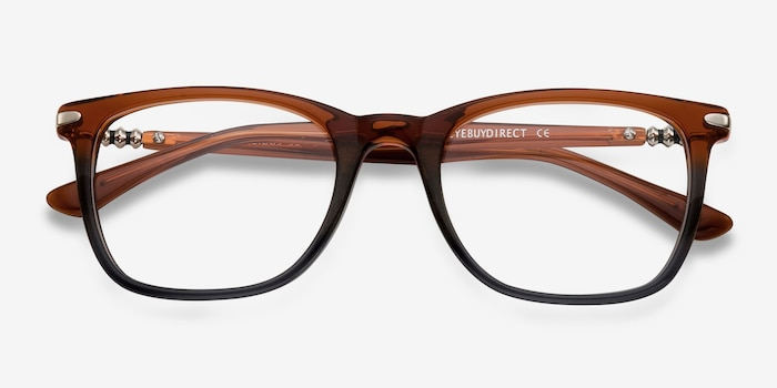 Rooibos Brown Acetate Eyeglass Frames from EyeBuyDirect, Closed View