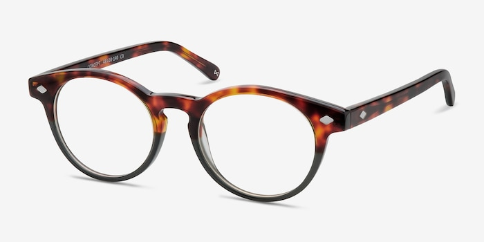 Concept Fire Stone Acetate Eyeglass Frames from EyeBuyDirect, Angle View