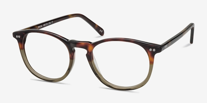 Prism Cafe Glace Acetate Eyeglass Frames from EyeBuyDirect, Angle View