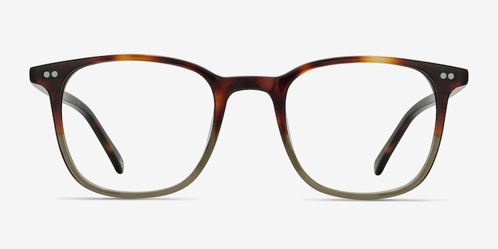 Sequence Charred Quartz Acetate Eyeglass Frames from EyeBuyDirect, Front View