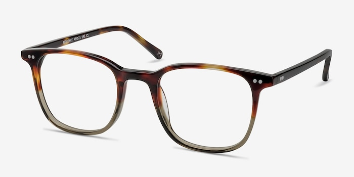 Sequence Charred Quartz Acetate Eyeglass Frames from EyeBuyDirect, Angle View