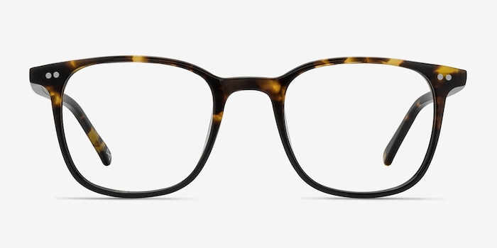 Sequence Amber Tortoise Acetate Eyeglass Frames from EyeBuyDirect, Front View