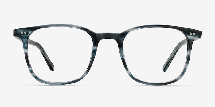 Sequence Ocean Tide Acetate Eyeglass Frames from EyeBuyDirect, Front View