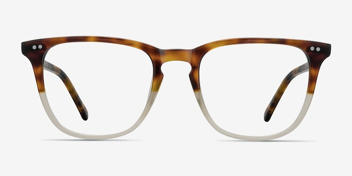 Exposure Macchiato Tortoise Acetate Eyeglass Frames from EyeBuyDirect, Front View