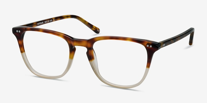Exposure Macchiato Tortoise Acetate Eyeglass Frames from EyeBuyDirect, Angle View