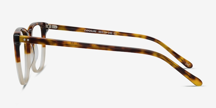 Exposure Macchiato Tortoise Acetate Eyeglass Frames from EyeBuyDirect, Side View