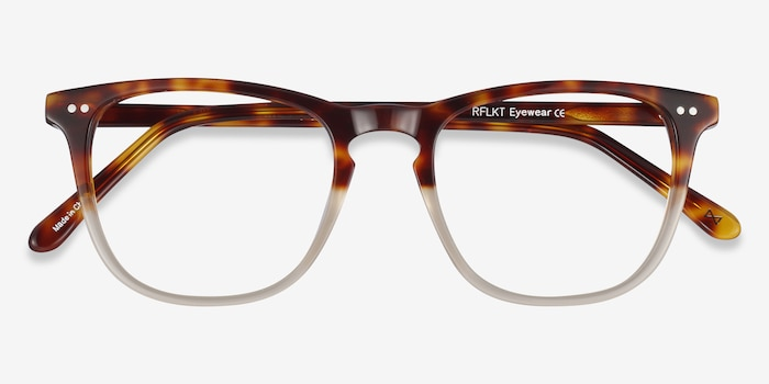 Exposure Macchiato Tortoise Acetate Eyeglass Frames from EyeBuyDirect, Closed View