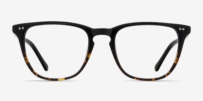 Exposure Jet Amber Acetate Eyeglass Frames from EyeBuyDirect, Front View