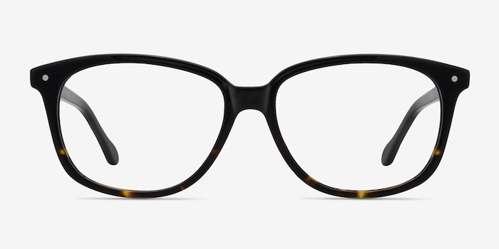 Escape Tortoise Acetate Eyeglass Frames from EyeBuyDirect, Front View