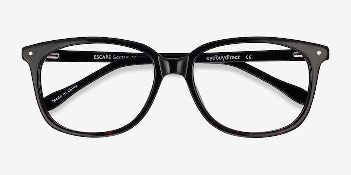 Escape Tortoise Acetate Eyeglass Frames from EyeBuyDirect, Closed View