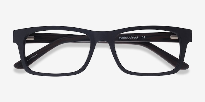 Emory  Black Coffee Acetate Eyeglass Frames from EyeBuyDirect, Closed View