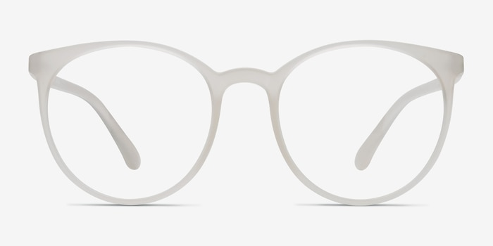 Portrait Clear Plastic Eyeglass Frames from EyeBuyDirect, Front View