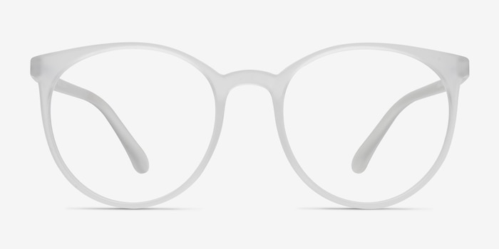 Portrait Matte Clear Plastic Eyeglass Frames from EyeBuyDirect, Front View