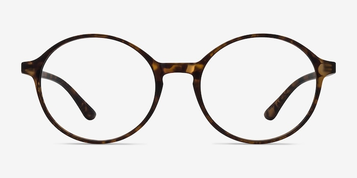 Poetic Matte tortoise Plastic Eyeglass Frames from EyeBuyDirect, Front View