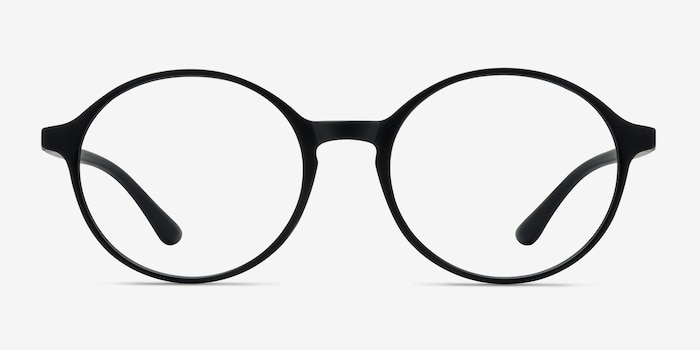 Poetic Matte Black Plastic Eyeglass Frames from EyeBuyDirect, Front View