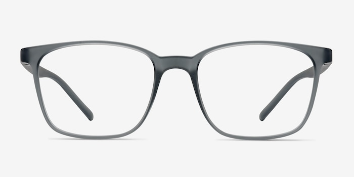 Soul Gray Plastic Eyeglass Frames from EyeBuyDirect, Front View