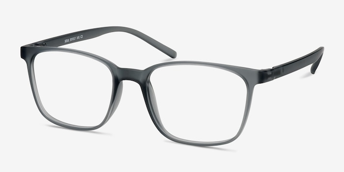 Soul Gray Plastic Eyeglass Frames from EyeBuyDirect, Angle View