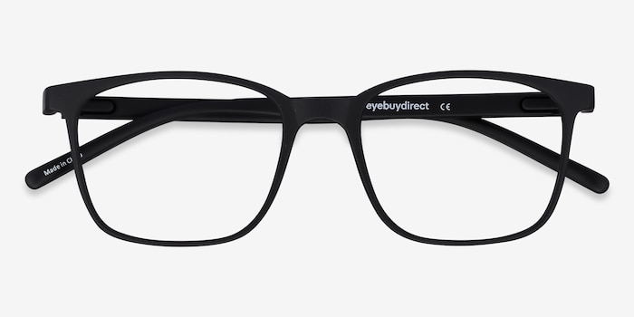 Soul Black Plastic Eyeglass Frames from EyeBuyDirect, Closed View