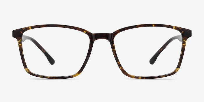 Northern Golden Tortoise Plastic Eyeglass Frames from EyeBuyDirect, Front View