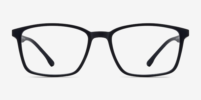 Northern Matte Navy Plastic Eyeglass Frames from EyeBuyDirect, Front View