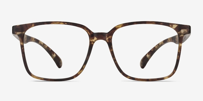 Magnus Matte Tortoise Plastic Eyeglass Frames from EyeBuyDirect, Front View