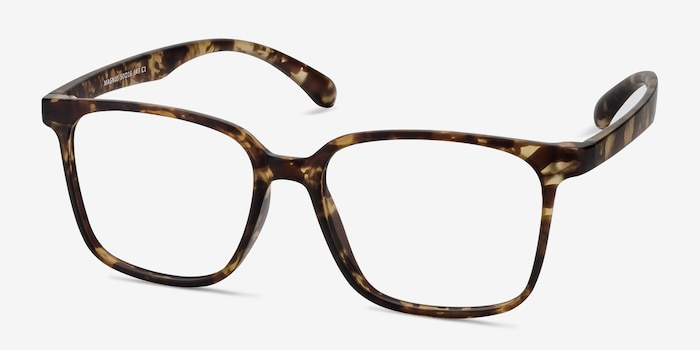 Magnus Matte Tortoise Plastic Eyeglass Frames from EyeBuyDirect, Angle View