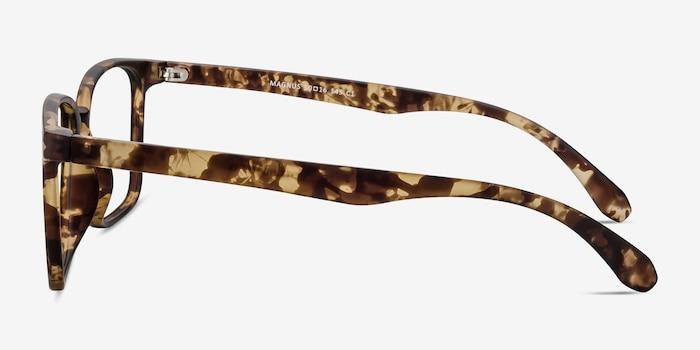 Magnus Matte Tortoise Plastique Montures de Lunettes d'EyeBuyDirect, Vue de Côté