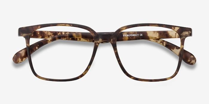 Magnus Matte Tortoise Plastique Montures de Lunettes d'EyeBuyDirect, Vue Rapprochée