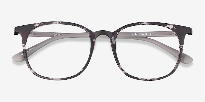 Cheer Swirled Gray Plastic Eyeglass Frames from EyeBuyDirect, Closed View