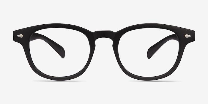 Atomic Matte Black Plastique Montures de Lunettes d'EyeBuyDirect, Vue de Face