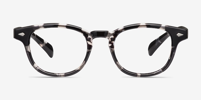 Atomic Gray Floral Plastic Eyeglass Frames from EyeBuyDirect, Front View