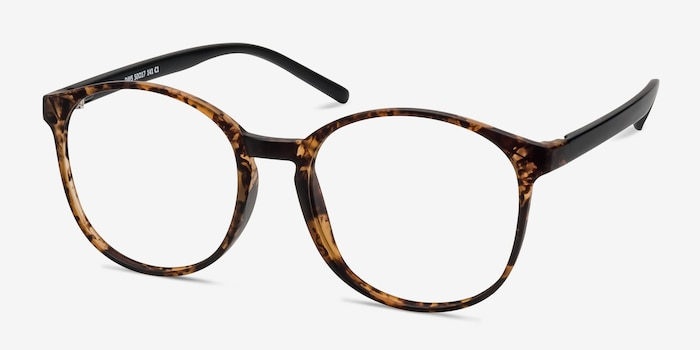 Days Matte Floral Plastic Eyeglass Frames from EyeBuyDirect, Angle View