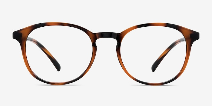 Brace Tortoise Plastic Eyeglass Frames from EyeBuyDirect, Front View