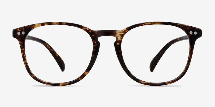 Record Floral Plastic Eyeglass Frames from EyeBuyDirect, Front View