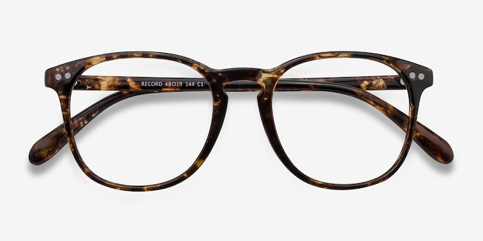 Record Floral Plastic Eyeglass Frames from EyeBuyDirect, Closed View