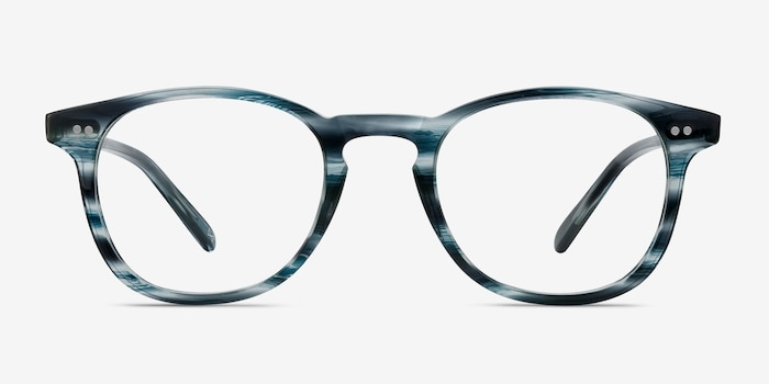 Symmetry Ocean Tide Acetate Eyeglass Frames from EyeBuyDirect, Front View