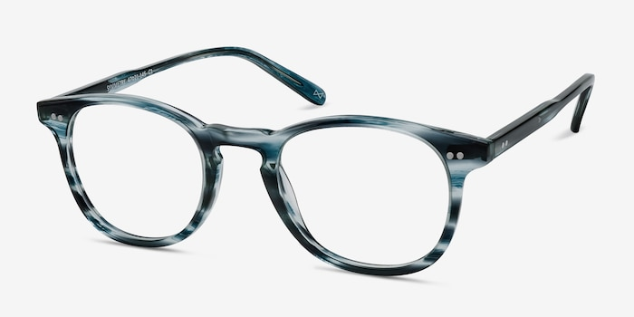 Symmetry Ocean Tide Acetate Eyeglass Frames from EyeBuyDirect, Angle View